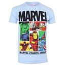 Marvel Men's Gridlock T-Shirt - Sky Blue