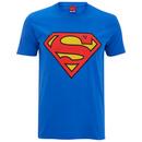 DC Comics Men's Superman Logo T-Shirt - Royal Blue