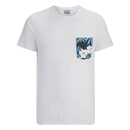 Jack & Jones Men's Originals Bobby Pocket Print T-Shirt - White