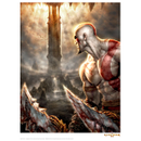God Of War 'Look' Art Print - 14 x 11