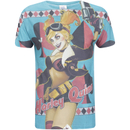 DC Comics Men's Bombshell Harley Quinn T-Shirt - Blue