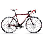 Forme Axe Edge Compe Carbon Road Bike - Campag Veloce - Black/Red