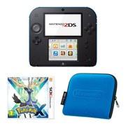 Nintendo 2DS Console (Black & Blue): Bundle includes Pokémon X  + Blue Nintendo 2DS Case