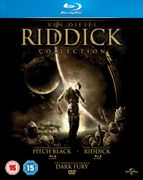 Riddick Verzameling: Pitch Black, The Chronicles of Riddick: Dark Fury and The Chronicles of Riddick