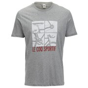 Le Coq Sportif Tour de France N12 Short Sleeved T-Shirt - Grey