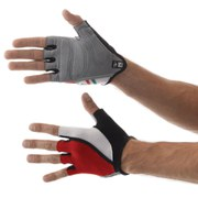 Santini Hook Gel Mitts - Red