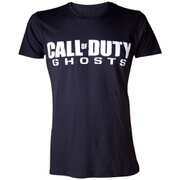 Call Of Duty Ghosts Men's Text Logo T-Shirt - Black