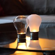 Lightbulb Tea Light Holder - Clear