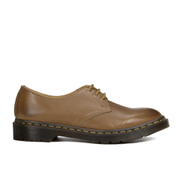 Dr. Martens Men's Milled Dorian 3-Eye Leather Shoes - Brown