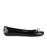 Ted Baker Women's Issan Bow Jelly Ballet Pumps - Black/Cream