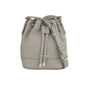 BOSS Hugo Boss Malinda-G Drawstring Leather Bucket Bag - Open Grey
