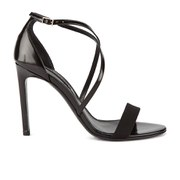 BOSS Hugo Boss Women's Tahara-A Grosgrain Barely There Heeled Sandals - Black
