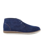 BOSS Orange Men's Voreno Suede Desert Boots - Dark Blue