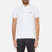 Lyle & Scott Men's Short Sleeve Plain Pique Polo Shirt - White