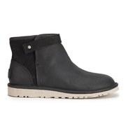 UGG Australia Women's Rella Suede Mini Sheepskin Boots - Black