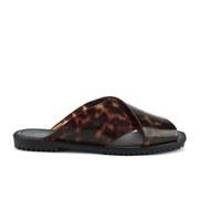 Melissa Women's Sauce Slide Sandals - Black Tortoiseshell