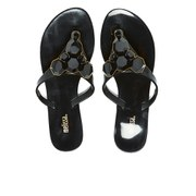 Melissa Women's Colour Crystal Flip Flops - Black