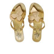 Vivenne Westwood for Melissa Women's Colour Flower Flip Flops - Gold Glitter