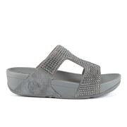 FitFlop Women's Rokkit Suede Slide Sandals - Silver Nova
