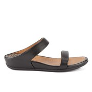 FitFlop Women's Banda Leather Slide Sandals - Black
