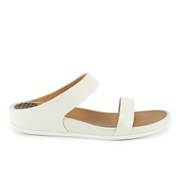 FitFlop Women's Banda Leather Slide Sandals - Urban White