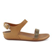 FitFlop Women's Banda Micro-Crystal Leather Sandals - Tan