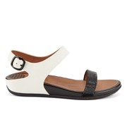FitFlop Women's Banda Micro-Crystal Leather Sandals - Black/White