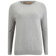 BOSS Orange Women's Imellda Silk-Back Knitted Jumper - Medium Grey