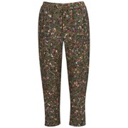 BOSS Orange Women's Simiss Printed Trousers Silk-Mix - Multi