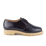 YMC Men's Solovair Sole Quilted Leather Apron Shoes - Navy