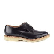 YMC Men's Crepe Sole Zip Front Leather Shoes - Navy
