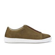 YMC Men's Suede Slip on Trainers - Tan