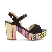 Love Moschino Women's Printed Platform Sandals - Aztec Print