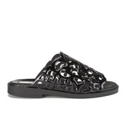 Miista Women's Lucille Laser Cut Patent Leather Sandals - Black