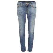 Nudie Jeans Women's Tight Long John 'Super-Tight/Low-Waist' Jeans - Saltwater Indigo
