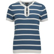 A.P.C. Women's Free City SS Pullover - Blue Steel