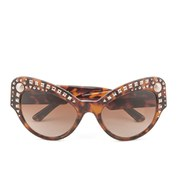 Versace Embellished Cat Eye Women's Sunglasses - Havana
