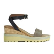 See by Chloe Women's Leather Wedged Sandals - Multi