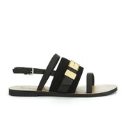 See by Chloe Women's Suede Flat Sandals - Black