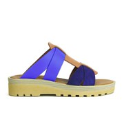 See by Chloe Women's Leather Flat Sandals - Blue