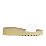 See by Chloe Women's Leather Slip-On Flat Sandals - White