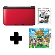 Nintendo 3DS XL Red/Black Animal Crossing New Leaf Pack