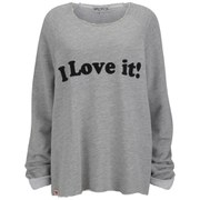 Wildfox Women's 'I Love It' Sweatshirt - Heather