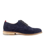 Oliver Spencer Men's Banbury Lace Up Suede Derby Shoes - Navy