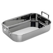 Le Creuset 3-Ply Stainless Steel Rectangular Roaster - 35cm
