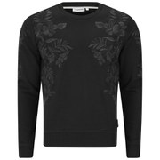 J.Lindeberg Men's Abur Floral Regular Fit Sweatshirt - Black