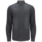 French Connection Men's Simple Indigo Long Sleeve Shirt - Camo