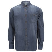 French Connection Men's Simple Indigo Long Sleeve Shirt - Check