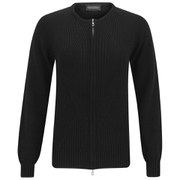 John Smedley Women's Amie Chunky Sea Island Cotton Zip Jacket - Black