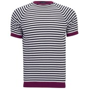John Smedley Men's Eddy Raglan Pullover Top - Raspberry/White